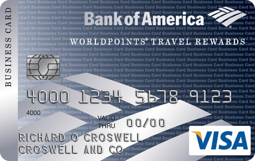 Learn more for Bank of America® WorldPoints® Travel Rewards for Business Visa® credit card