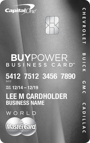 BuyPower Business Card from Capital One® -Get The Card That Helps You Get The Car