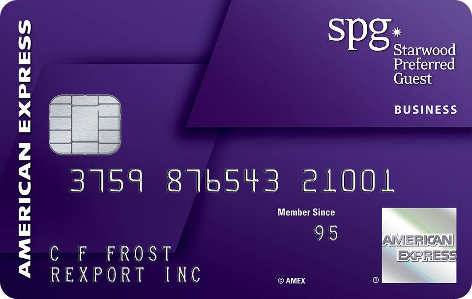 Apply online for Starwood Preferred Guest® Business Credit Card from American Express